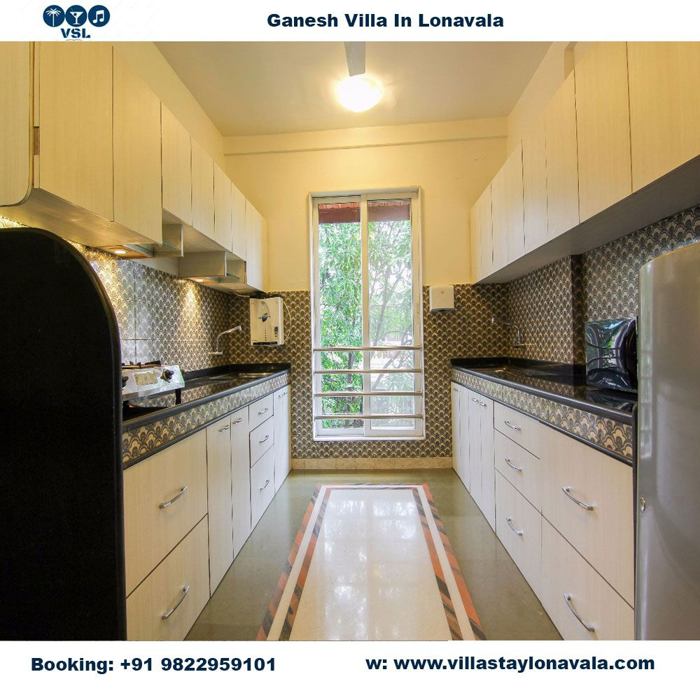 ganesh villa kitchen long view